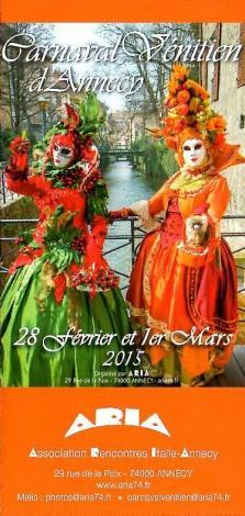 Carnaval venitien annecy 2015