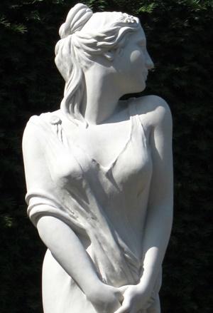 Statue du jardin au glamis castle